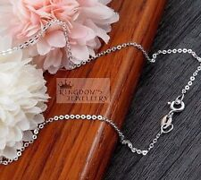 Solid 925 Solid Sterling Silver Anklets Length 11 inches - Hallmark 925 Italy