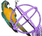 Large Purple Parrot Orbit Swing Toys Perches