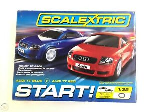Scalextric C1203 Track Electric Start Audi Tt Red and Blue 1/32