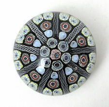 Strathearn Glass Large 9 Spoke Millefiori Paperweight P7