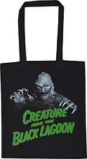 CREATURE FROM THE BLACK LAGOON BLACK COTTON TOTE SHOPPER BAG MONSTER HORROR