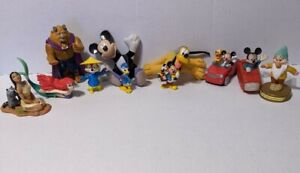 Mixed Vintage Lot Of 11 Disney  Figures PVC VARIOUS USED