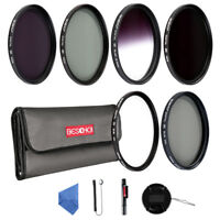 Beschoi 67mm UV CPL ND2 ND4 ND8 Graduated Grey Color Lens Filter Kit Accessories
