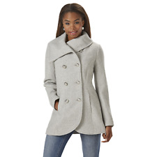 Jessica Simpson Womens Plus Double Breasted Coat Gray 3X #NK7TB-871