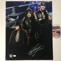 Autographed/Signed THE UNDERTAKER 16x20 WWE Wrestling Photo JSA COA Auto #1