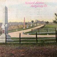 Pennsylvania PA Gettysburg Howard Avenue Postcard 1917 Antique True Vintage War