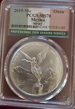 Mexico Mo 2015 Silver PCGS MS70 1 Onza Libertad