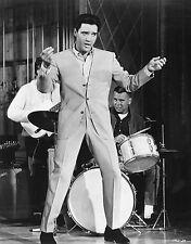 Vtg Black & White Portrait of ELVIS PRESLEY Viva Las Vegas Movie Photo #616