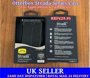 👉For iPhone 6 / 6S👈 Otterbox Strada Premium Leather Folio Case Cover - Black