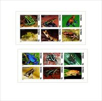 FROGS FROG 2 SOUVENIR SHEETS MNH IMPERFORATED