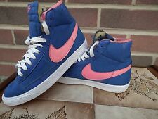 Nike Filles Blazer Hi-top Textile Baskets/Escarpins bleu/rose taille UK3 EU35.5