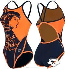 Arena X Marvel Black Widow Women's One Piece Swimwear AVBCO92 ORG Size 90-95 (L)