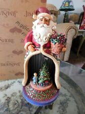 "JIM SHORE Heartwood Creek Xmas Santa ""Toyland"" Musical Lights Up Figurine"