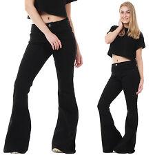 Women's Mid Flared, Kick Flare Indigo, Dark wash Jeans