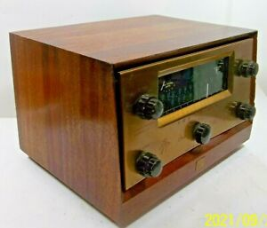 Vintage The Fisher Model FM-80 T Tube Multiplex Receiver Amplifier Power Up NICE