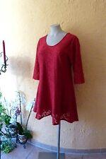 Magna vestido túnica completamente punta 56 58 nuevo! rojo a-form Stretch Lagenlook