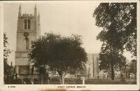 Postcard Lincolnshire Abbey Church Bourne  real photo posted 1921