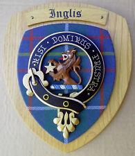 NOS Scottish Clan INGLIS Oak Tartan Plaque Crest Shield