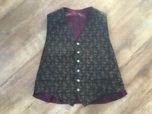Men's Vintage Paisley Waistcoat For Sale ! UK 38 . A work of Art !