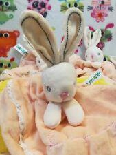 Unisex Baby Bunny Security Blanket Peach