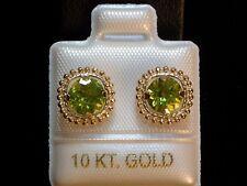 Peridot Schmuckset - 2,7 ct. - Milgrain - 10 Kt. Gold 417  Anhänger & Ohrstecker