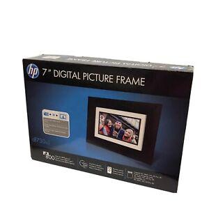 """HP 7"""" Digital Picture Frame df730v1 800 Photos Clock Calendar Remote Control Box"""