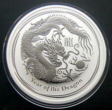 2012 AUSTRALIA SILVER LUNAR DRAGON COIN 1 OZ UNC .999