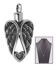 My Guardian Angel Heart Cremation Jewelry Keepsake Memorial Urn Necklace