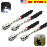 Magnetic Pickup Tool LED Light Telescoping Handle Pick up Magnet Retractable 8lb