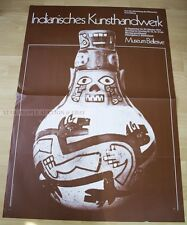 SWISS EXHIBITION XXL POSTER 1974 - NATIVE AMERICAN HANDICRAFTS MUSEUM BELLERIVE