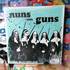1/1 Original Art collage Graffiti Spray Paint   Nuns With Guns