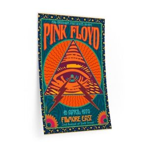 1970 PINK FLOYD NYC Concert Poster Live at Filmore East Wall Decal
