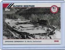 2014 TOPPS OLYMPIC OPENING CEREMONY / HERITAGE CARD OH-5 ~ 1948 ST. MORITZ SWITZ