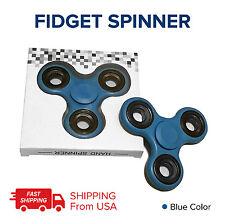 BLUE FIDGETS LOT 100 TRI FIDGET HAND SPINNER FIGET SPINNERS EDC STEEL FINGER USA