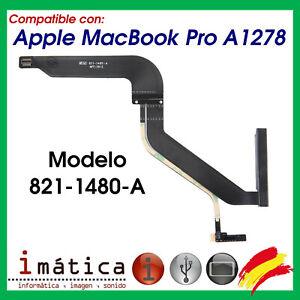CABLE FLEX SATA PARA APPLE MACBOOK PRO A1278 821-1480-A CONECTOR HDD DISCO DURO