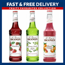 Monin Syrups Fruity Favourites Giftset 70cl Strawberry Green Apple, Blood Orange