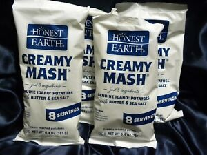 Lot of 4 Packs Bags Honest Earth Creamy Instant Mashed Potatoes Dry Food Storage