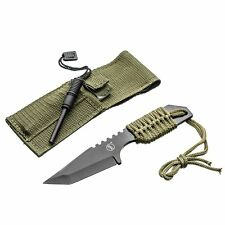 Outdoor Tanto Knife with Fire Starter Versatile Convenient For Survival Camping