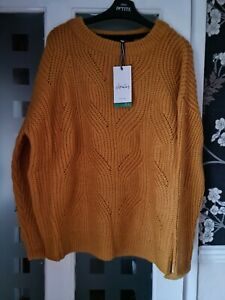 JOULES FLUFFY CLOVER POINTELLE JUMPER. BNWT. COLOUR. GOLD. SIZE. 18