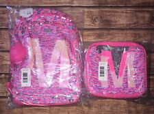 NWT Justice Reversible Sequins Backpack And Lunch Box Initial M