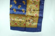 """Scarf 25"""" Square, Paisley Pattern with Navy Border"""
