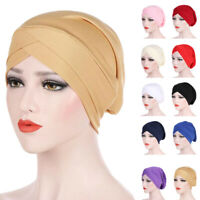 Muslim Women Cancer Chemo Hat Hijab Hair Loss Head Scarf Turban Cap Wrap Beanie