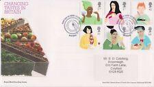 Cookstown PMK GB Royal Mail FDC 2005 gustos cambiantes sello conjunto Pegatina de dirección