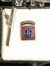 Us Army 82nd Airborne Division crest Mini Tie Tack lapel pin badge- Nos