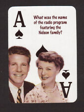 Ozzie & Harriet Nelson Radio TV Series Neat Card! #4Y4
