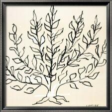 "Henri Matisse ""Le Buisson"" Poster  Print 1951 French Decor White Gray NEW"