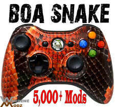 BOA SNAKE SKIN RAPID FIRE Modded Xbox 360 Controllers COD BLACK OPS 2 MW3 Jitter