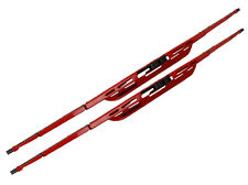 2pc 16 Inch Colored Red Windshield Window Wiper Blade Set Fits Many