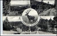 CLAUSTHAL ZELLERFELD AK 1965 4-fach Mehrbildkarte alte Postkarte