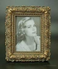 Rokoko Barock Bilderrahmen Fotorahmen Rechteckig Rahmen Gold Holz Stil alt Antik